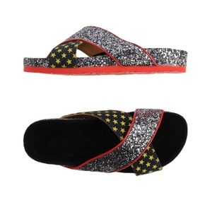 TATOOSH Glitter Slides Women's Size 10 NEW